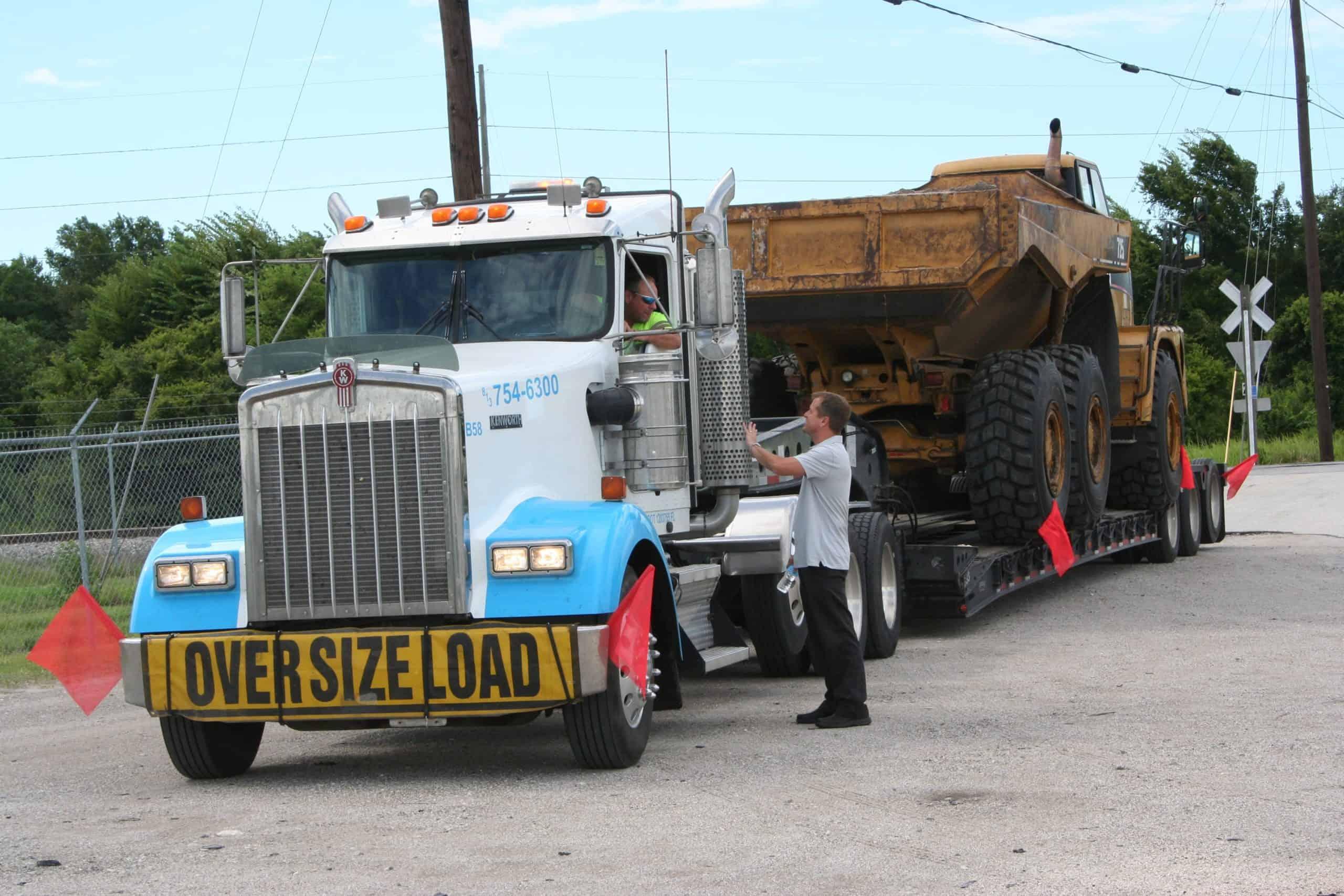 bluewhite truck load