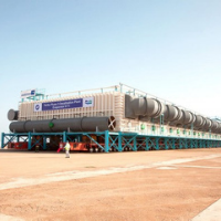 largest heavy haul freight in history water unit transport