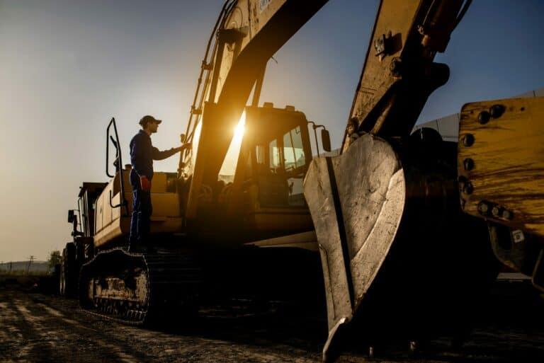 excavator shipping