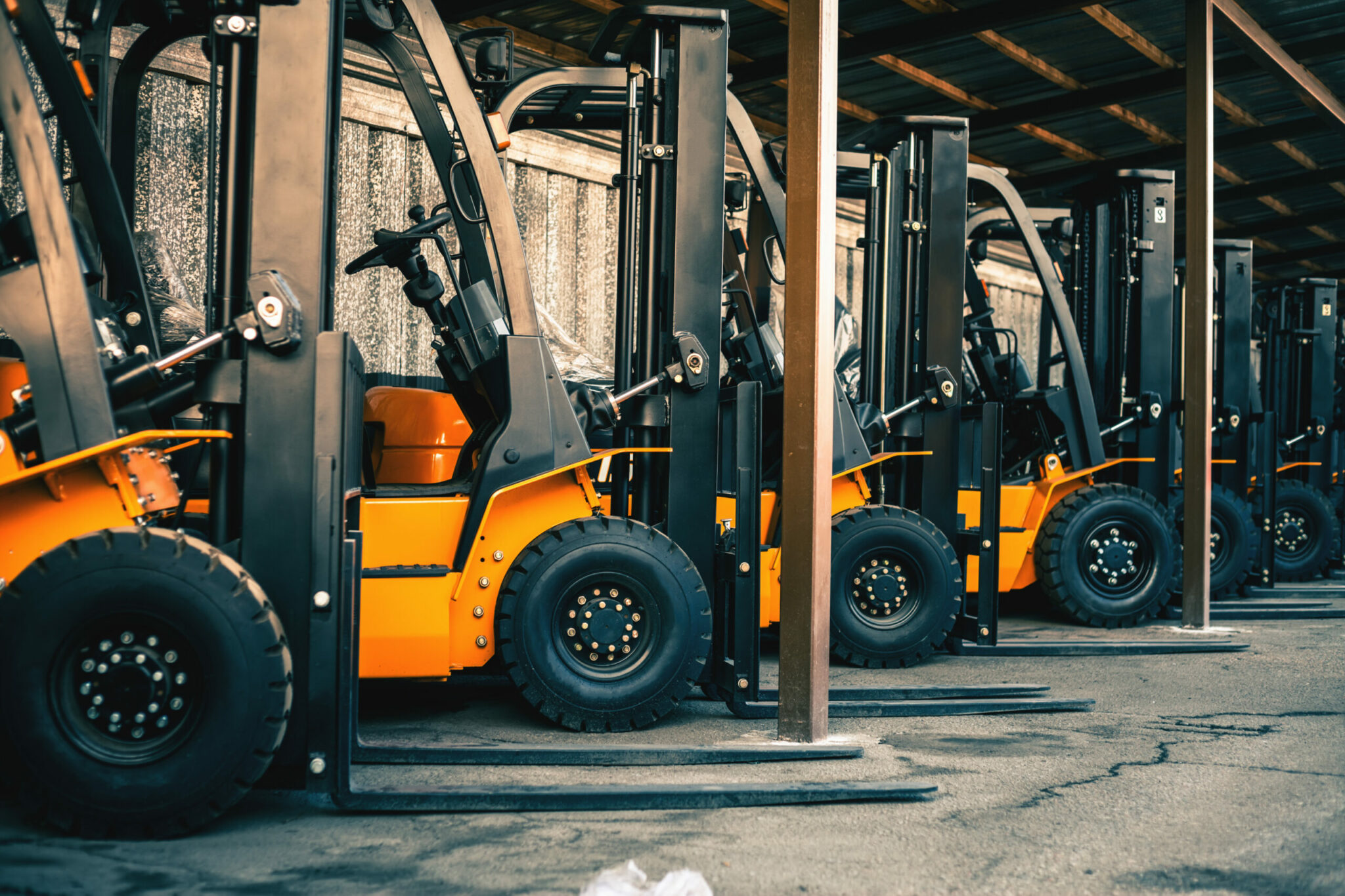 forklift row