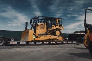 cat bulldozers trailer
