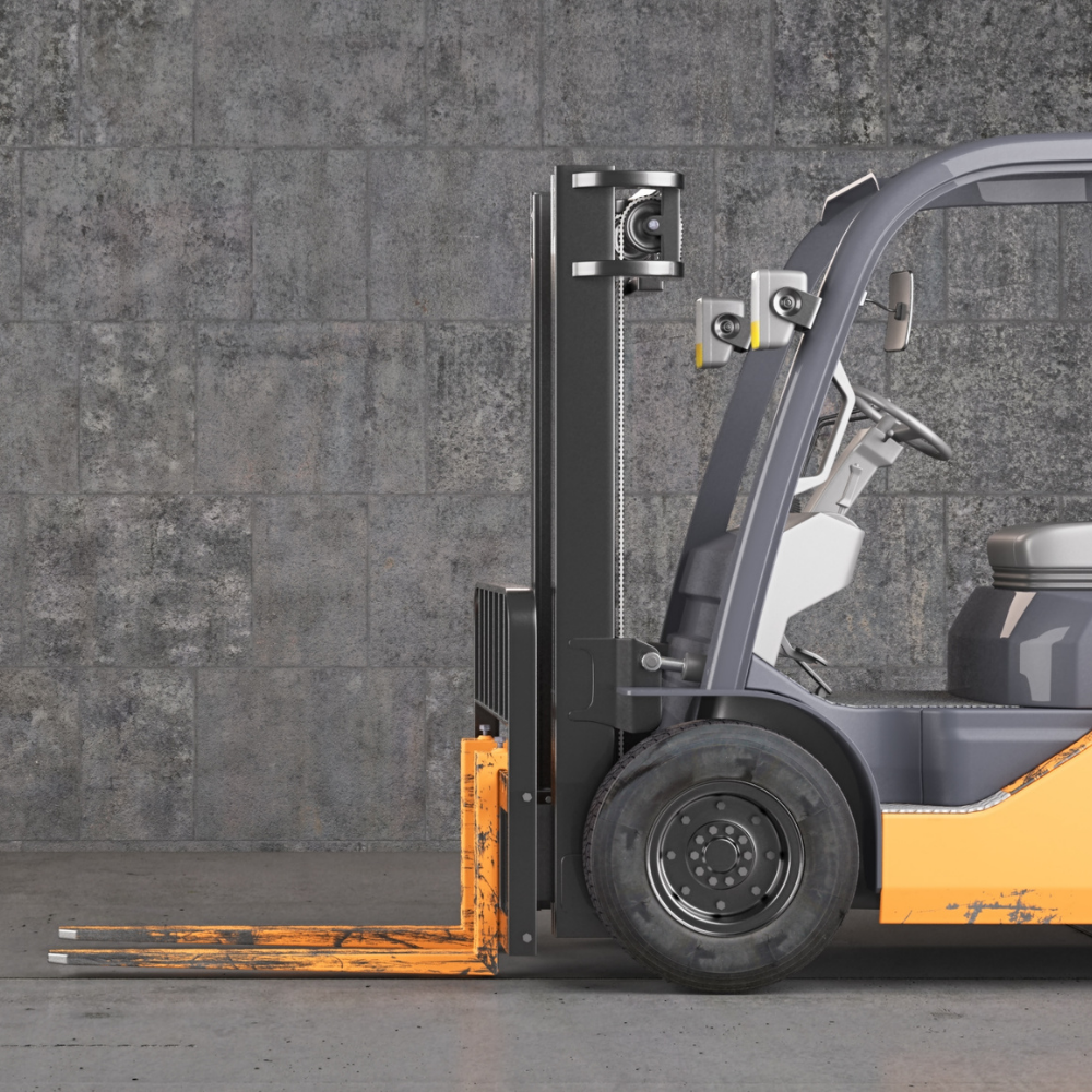 forklift front view