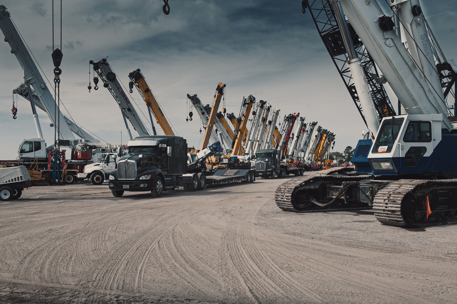 truck and cranes